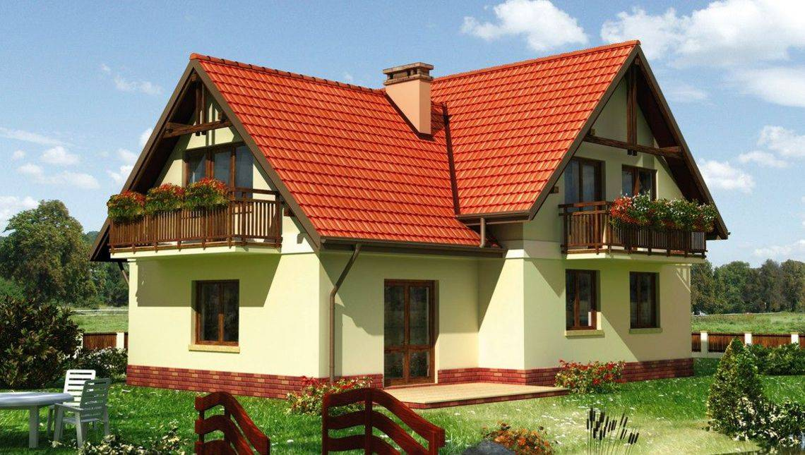 Красочное строение для проживания большой семьи