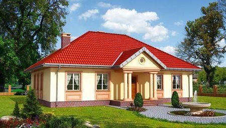 Симпатичный дом с четырехскатной кровлей