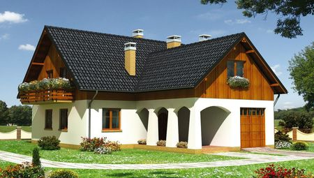 План жилого дома на пять спален с гаражом