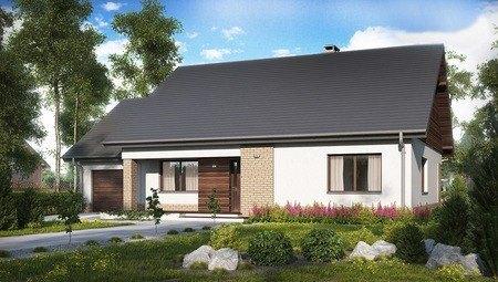 Проект одноэтажного дома с предусмотренной мансардой
