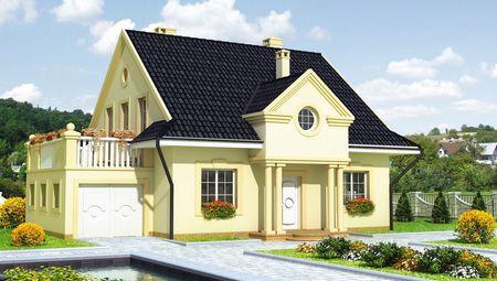 Привлекательный коттедж в классическом стиле с гаражом