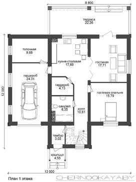 Величавый двухэтажный коттедж с верандой