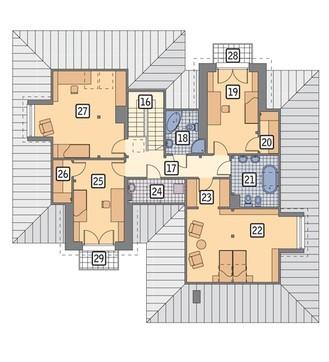 Проект жилого дома сложной формы