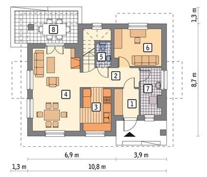 Проект красивого дома на четыре спальни