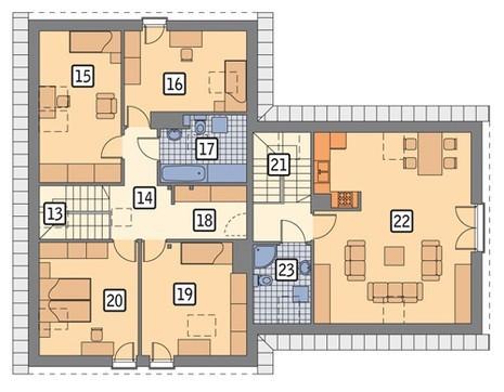 Проект жилого дома с красивым декором