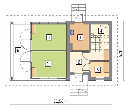 Проект небольшой конюшни с жилым помещением на втором этаже