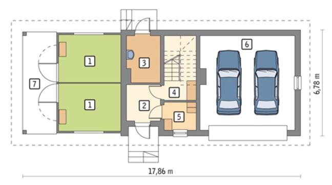 Конюшня с гаражом на 2 авто