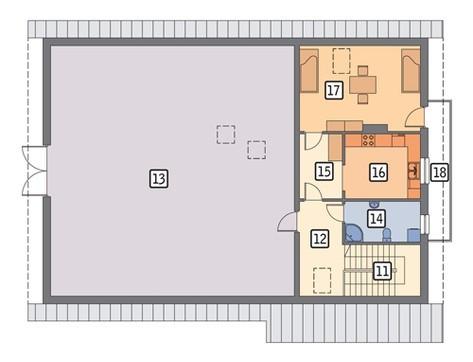 Проект двухэтажной конюшни на 6 особей