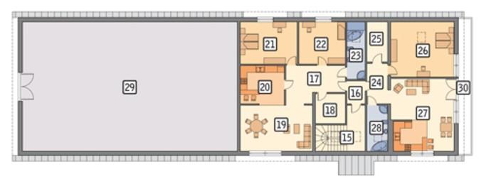 Проект большой конюшни с жилыми апартаментами