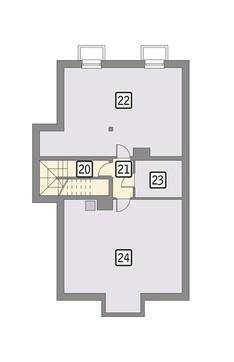 Проект магазина с жилыми апартаментами на втором этаже