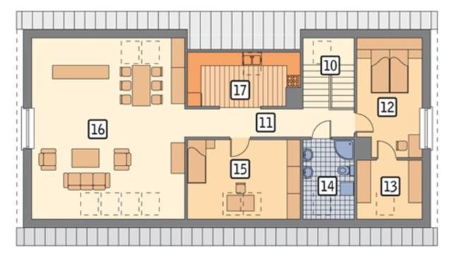 Проект современного двухэтажного здания универсального назначения