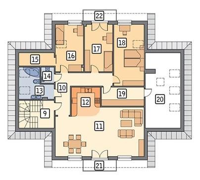 Проект двухэтажного здания под аптеку с гаражом и жилыми апартаментами