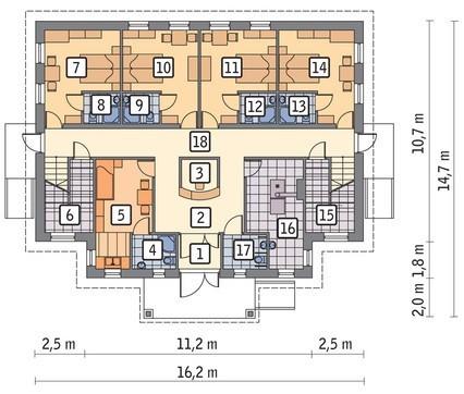 Проект здания многоквартирного пансионата