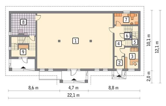 Торговый комплекс на 2 этажа