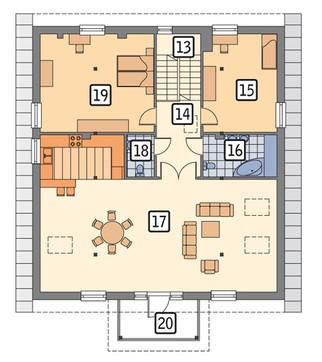 Проект торгового комплекса с жилым помещением