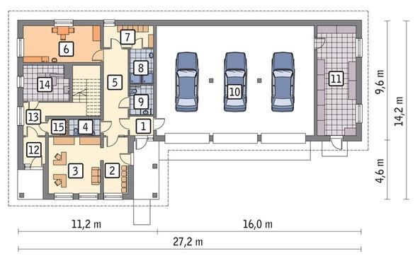 Проект здания под торгово-сервисный комплекс