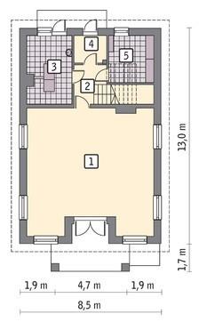 Проект двухэтажного торгового комплекса