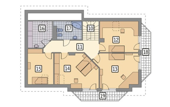 Проект праздничного дома интересной планировки