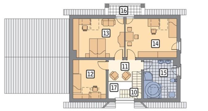Проект интересного дома с гаражом на 2 машины