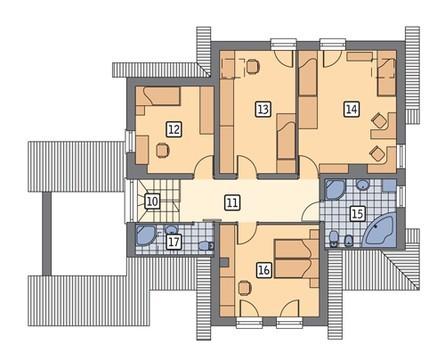 Проект жилого дома под красивой крышей