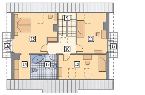 Проект красивого дома на два балкона