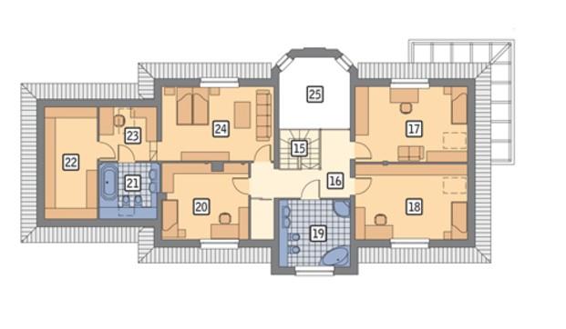 Проект жилого дома привлекательного внешнего вида