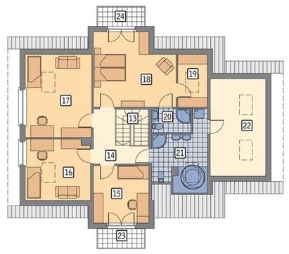 Проект привлекательного дома в серо-коричневых тонах