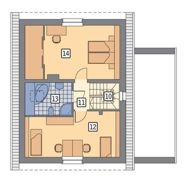 Проект уютного домика на 4 спальни