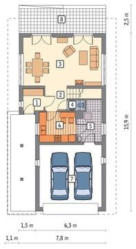 Проект живописного дома на 4 спальни