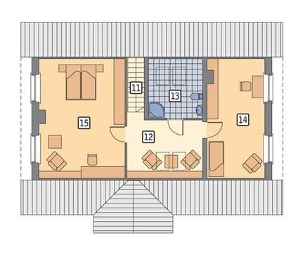 Проект аккуратного дома  гаражом