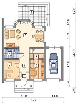 Проект живописного троения на два этажа