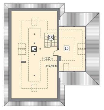 Проект стильного одноэтажного дома с чердаком