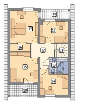 Проект красивого дома под двухскатной крышей