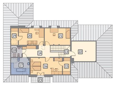 Проект солидного дома с мансардой