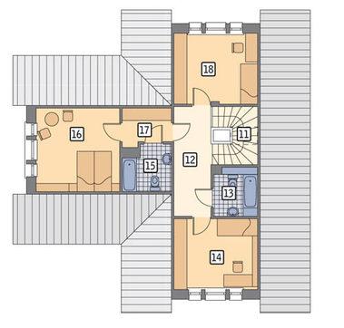 Проект миловидного дома с гаражом