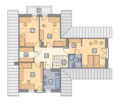 Проект красивого дома под высокой крышей