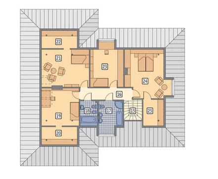 Проект привлекательного двухэтажного жилого дома