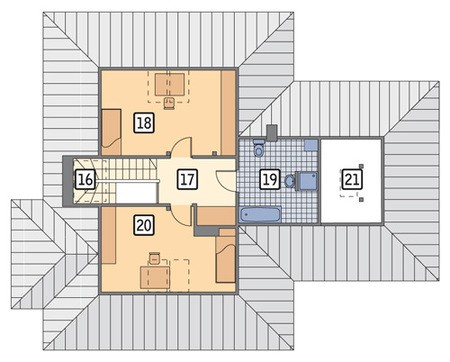 Проект изящного дома с мансардой