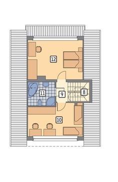 Проект жилого дома с просторными спальными