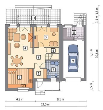 Проект двухэтажного дома в шоколадных тонах