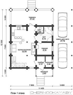 Стильный особняк с балконами и навесом