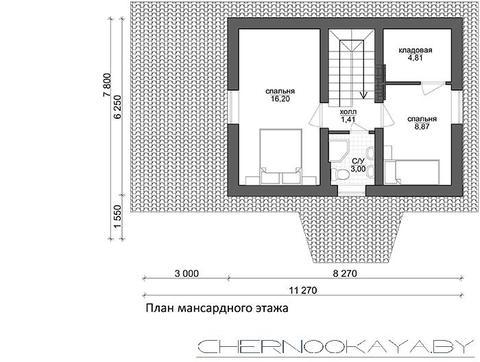 Живописный коттедж на два этажа с просторной террасой