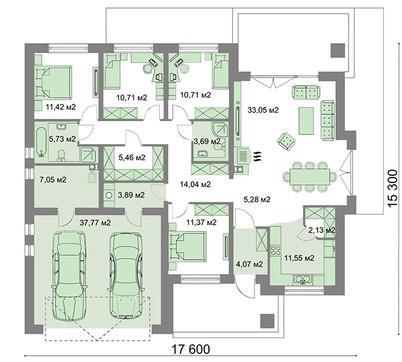 Благоустроенный одноэтажный дом для большого участка