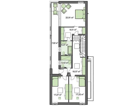 Современный двухэтажный особняк интересной планировки