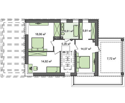 Проект двухэтажного дома модерн с гаражом