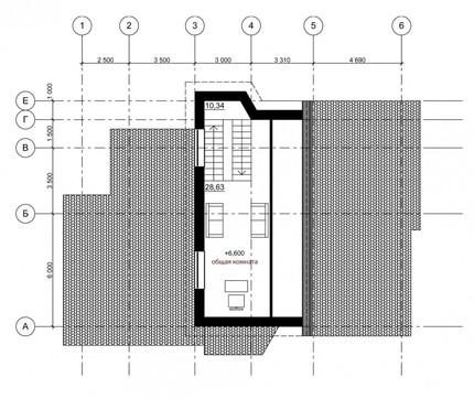 Проект оригинального дома с кирпичным фасадом