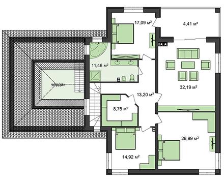 Комфортный мини особняк в классическом стиле