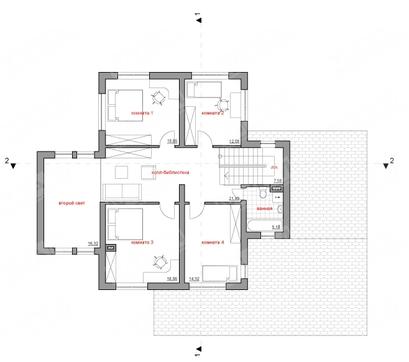 Архитектурный проект особняка с навесом для авто, сауной и террасой