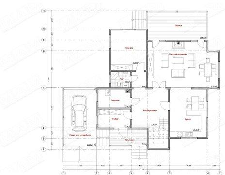 Проект дома 270 m² с деревянным фасадом