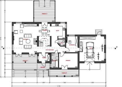 Проект удобного современного дома 300 m²